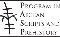 Program in Aegean Scripts and Prehistory Dataverse logo